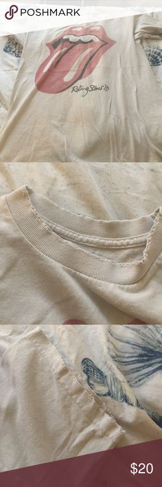 Brandy Melville Rolling Stones tee shirt 10/10 condition like new/ barely worn but a staple in everybody's closet Brandy Melville Tops Tees - Short Sleeve