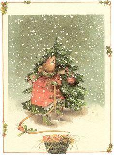 Le sapin de Noël de Vera la souris de Marjoleine Bastin