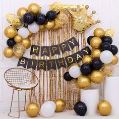 Happy Birthday Decor, Birthday Decorations At Home, Happy Birthday Wishes Photos, Birthday Girl Pictures, Birthday Party Decorations, Happy Party, Birthday Gifts For Best Friend, Birthday Surprise Boyfriend, Birthday Balloons