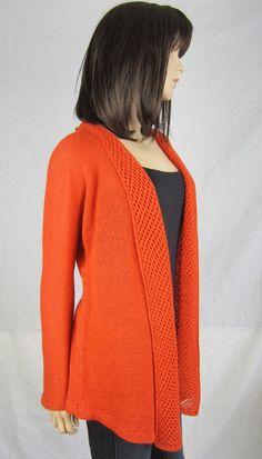 MANDARINE - sur commande - Gilet en 100% alpaga t 38-40 - tricot main femme