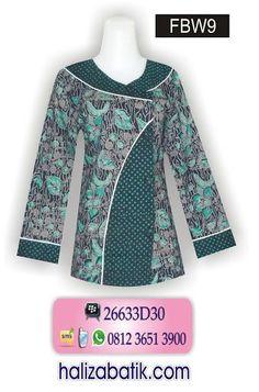 Blouse Styles, Blouse Designs, Blouse Batik Modern, Mode Batik, Model Kebaya, Batik Fashion, Blouse Models, Batik Dress, African Print Fashion