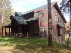 Luck Vacation Rental - VRBO 233670 - 5 BR Northwest Cabin in WI, Executive Lake Home on Bone Lake