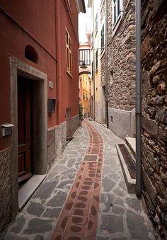 Cinque Terre Alleyway, Italy