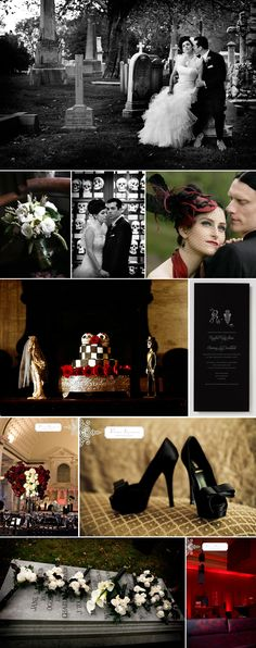 this is how I would do a Goth wedding. Elegant, beautiful, not creepy and bloody.