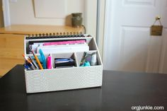 My Organized Portable Home Office - I need to make this to keep me organized xxx