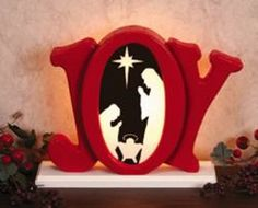 29-w1251xc - Indoor Glowing Joy Nativity Scroll Saw Pattern…
