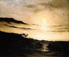 Slumbering Fog - ca. 1900-05,  Elliott Daingerfield  - Oil on canvas