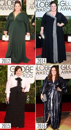 MELISSA MCCARTHY STYLE EVOLUTION: Here you'll find *the best* red carpet looks from the Golden Globes. The gowns, the accessories, the hair, and makeup just keep getting better and better! Find the best ~red carpet~ style inspiration here.