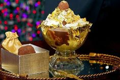 How much are you willing to spend just to enjoy the costliest sweets on the planet? An ice cream sundae sounds tempting. But will you go for a sundae that will make your jaw drop and your wallet cry? Here are the world's top 7 priciest desserts. Most Expensive Ice Cream, Most Expensive Food, Expensive Taste, Haute Chocolate, Chocolate Ice Cream, Chocolate Sundae, Chocolate Gold, Chocolate Cake, Expensive Chocolate