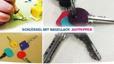 Dann nutzen Sie sie doch ganz einfach, um Ihre Schlüssel mal ein wenig aufzupeppen und ihnen neuen Glanz zu verleihen. Einfach die Schlüsselköpfe mit Nagellack anpinseln und sie so unverwechselbar machen!