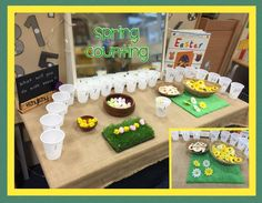 Early Years ideas from Tishylishy. Sharing photos, provision enhancements and outcomes from my EYFS class and the occasional share from others. Year 1 Classroom Layout, Early Years Classroom, Easter Activities, Spring Activities, Preschool Activities, Garden Ideas Early Years, Continuous Provision Year 1, Environment Topic, Math Tables
