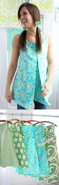Amy Butler - Mini Dress & Tunic Pattern for girls and women 16.95