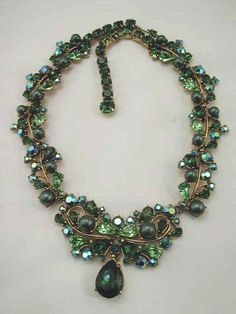 Vintage Antique Jewelry   Schiaparelli Jewelry Maker of This Vintage Necklace #AntiqueJewelry