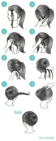 Beautiful braided bun hairstyle!