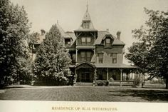 Residence of W.H. Withington - 228 Wildwood, President Union Bank and Pres of Withington and Cooley Manufacturer, Garden Tools, Forks, ect.