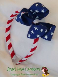 Patriotic Stars and Stripes Headband by angelhaircreations on Etsy, $9.00