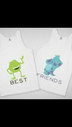 Use your silhouette machine to make sully and mike best friend tshirts