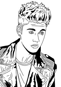 JUSTIN BIEBER coloring pages - Coloring pages - Printable Coloring ... | 333x236