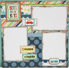 Boys Will Be Boys12x12  Premade Scrapbook by ClassyCaptureDesigns