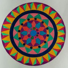 """Taking Risks"" Colored pencil Mandala on Bristol paper - 15 cms diameter by Cath Desjeunes /True Calling Designs"