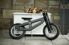 Heritage Balance Bike from Loll Designs Wood Bike, Cafe Racer Bikes, Balance Bike, Woodworking Toys, Ride On Toys, Kids Bike, Kids Wood, Cool Inventions, Bike Design