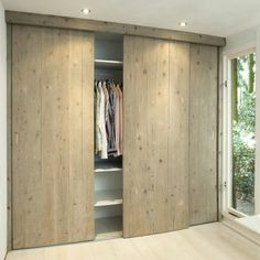 I love the cupboard doors, sliding doors save space and these look nice Home, Sliding Closet Doors, Room, Closet Bedroom, Interior, Bedroom Design, Bedroom Cupboards, Home Bedroom, Door Design