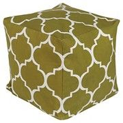 "Playhouse Pouf - Green Olive (18""x18""x18"")"