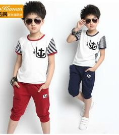 kid clothes set http://www.aliexpress.com/store/product/2015-new-summer-children-s-clothing-children-s-casual-Korean-boy-suit-short-sleeved-T-shirt/1395355_32305665904.html