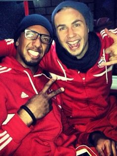 Jerome Boateng and Mario Goetze. Always a good time!