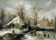 Joos de Momper - Winter Landscape.