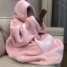 Hoodie Soft and Warm Blanket Hooded Robe Spa Bathrobe Sweatshirt Fleece Pullove. Plush Blanket Hoodie Soft and Warm Blanket Hooded Robe Spa Bathrobe Sweatshirt Fleece Pullover Blanket Pink Aesthetic, Aesthetic Clothes, Mode Outfits, Fashion Outfits, Pink Outfits, Grunge Outfits, Punk Fashion, Lolita Fashion, Fashion Beauty