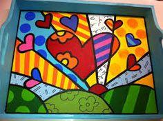 """Képtalálat a következőre: """"stone painting"""" Art Pop, Wood Arrow Decor, Whimsical Painted Furniture, Valentines Art, Art Graphique, Heart Art, Art Plastique, Stone Painting, Art Lessons"""