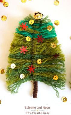 Christmas Art Projects, Projects For Kids, Kids Christmas, Christmas Crafts, Christmas Ornaments, Christmas Tree Decorations, Holiday Decor, Textiles, Macrame Projects