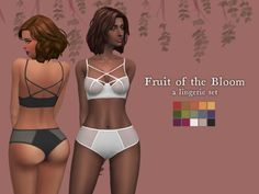 Nolan-Sims : Fruit of The Bloom, A Lingerie Set 15 swatches YA-Elder Female Base Game Compatible
