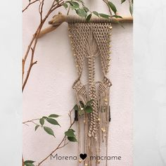 Macrame style home by morenamacrame Driftwood Wall Art, Boho Wedding Decorations, Wooden Art, Hanging Wall Art, Bohemian Decor, Plant Hanger, Boho Style, Home Decor, Etsy Handmade