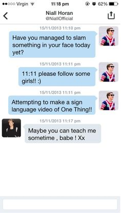 Niall's DM to a fan :)>>> I know a bit of sign language. Its absolutely beautiful ♥