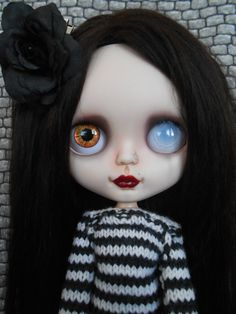 Custom Ooak RBL Blythe Doll Faceplates por Spookykidsworkshop