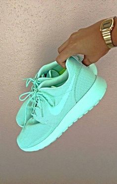 All mint Nike shoes, great statement piece