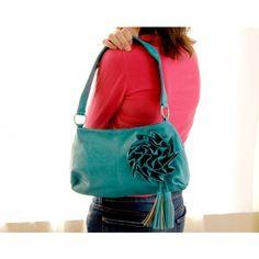Turquoise Rosette Handbag  $42.00