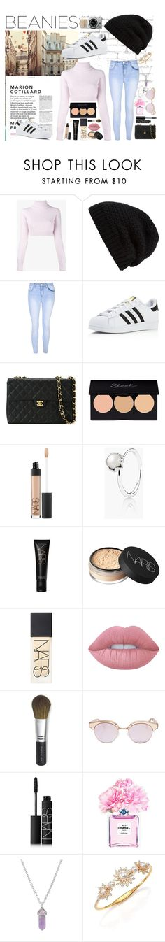 """""""Beanies for a bad hair day..."""" by rhiannonpsayer ❤ liked on Polyvore featuring WALL, Balmain, Rick Owens, Glamorous, adidas, Chanel, NARS Cosmetics, Pandora, Lime Crime and Bare Escentuals"""