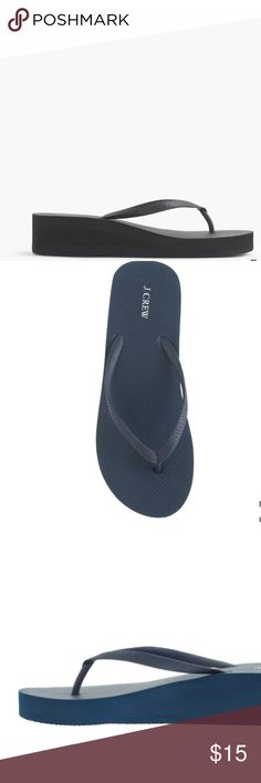 Jcrew Womens wedge flip flop thong sandal Brand new never worn. Womens size 9 and 11 available. Great for vacation, beach or water park J. Crew Shoes Sandals