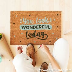 This makes my heart go boom Doormat - You look wonderful today (ENG)