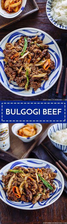 Bulgogi (Korean Grilled Beef) プルコギ   Easy Japanese Recipes at JustOneCookbook.com