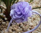 Tiara flor camélia G lilás
