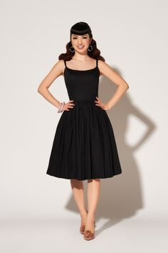 Pinup Couture Jenny Dress in Black - Pinup Girl Clothing .com