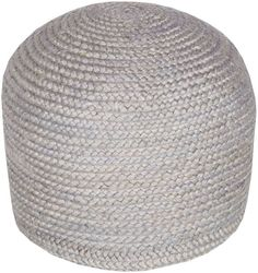 Surya TPPF-004 Indoor Pouf from the Tropics collection Gray Home Decor Pillows Poufs