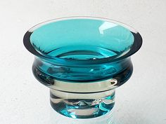 "NANNY STILL - Glass bowl ""Rondo"" 1344 for Riihimäen Lasi Oy 1965–68, Finland. [Ø 10 cm, h. 6,5 cm]"