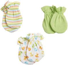 Gerber Unisex-Baby Newborn 3 Pack Monkey Mitten (Purchased: 1 of 1)