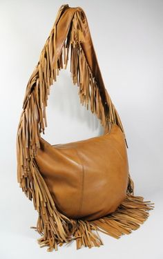 5b1dd08ad0 Michael Kors Tan Leather Crescent Fringe Hobo Handbag Michael Kors Purses  Outlet