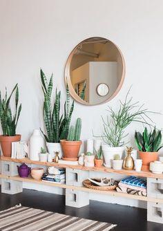 Como usar blocos de concreto na decoração da sua casa
